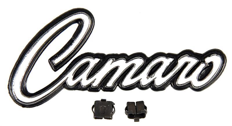 68 camaro glove box  u0026quot camaro u0026quot  emblem w   clips